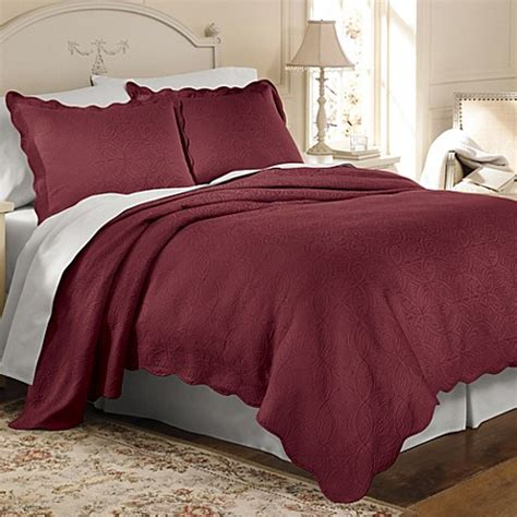 Matelasse Coventry Coverlet Set In Burgundy Bed Bath Matelasse Bedding Sets