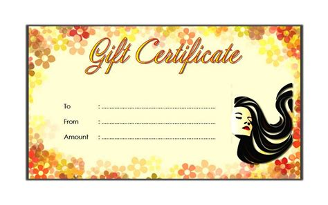 haircut gift certificate template salon gift certificate templates best 10 templates