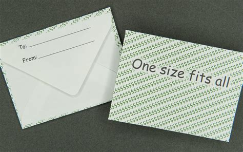 Gift Card Size Envelopes - gift card envelope dollar signs one size fits all archives bank cards dvds