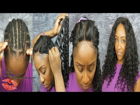 sewi in tutorials with leave out 3 part lace closure sew in no leave out tutorial ft