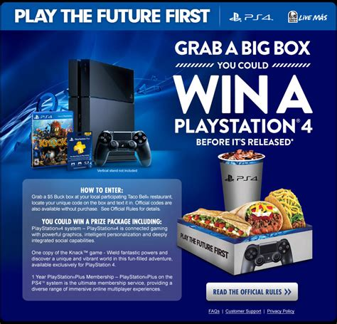 Taco Bell Sweepstakes Xbox - win a free ps4 with taco bell cheats co