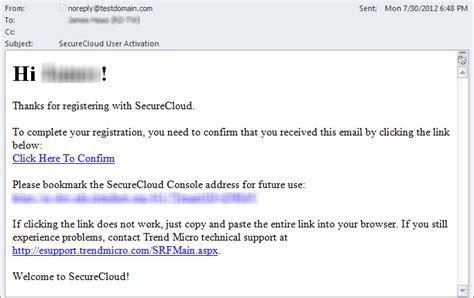 email register exle registration email images