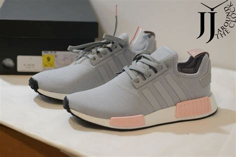 Adidas Nmd R1 Gray Pink Ua 1 new adidas nmd r1 clear onix vapour grey gray pink boost by3058 9 us