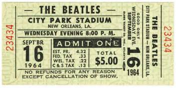 Concert Tickets Fab 4 Collectibles The Best Quality In Authentic