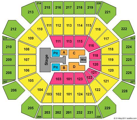 united spirit arena seating chart