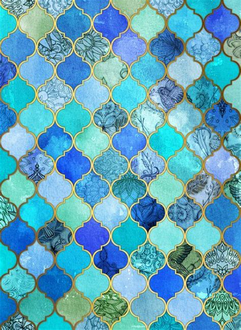 beautiful tile beautiful tile cobalt blue aqua gold decorative