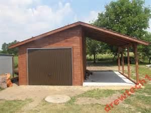 Garage Apartment Garaż Drewniany Plus Wiata Zdjęcie Na Imged