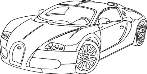 bugatti veiron to draw coloring pages