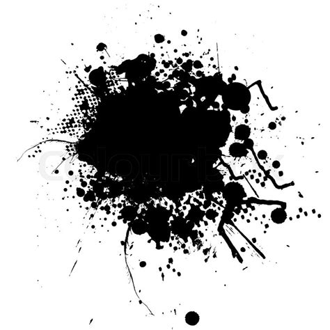ink pattern words ink splat mono with room to add your own text stock