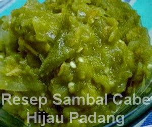 Cabe Rawit Hijau Petikan 250 Gr resep sambal cabe hijau padang asli info resep