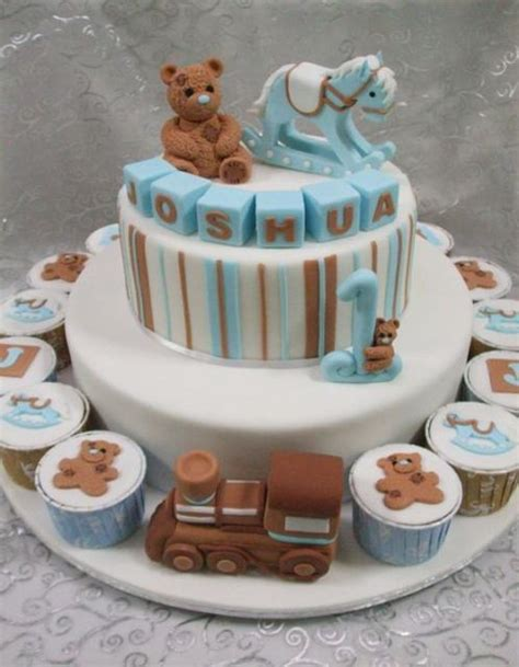 Baby Shower Cake With Baby On Top by Baby Blue Teddy