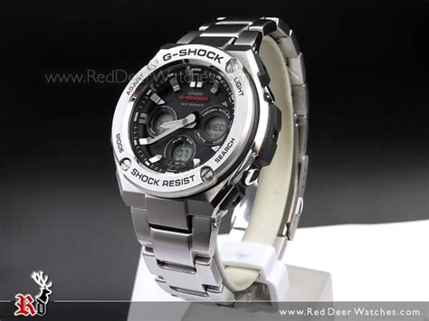 G Shock Casio Rantai Stainless Steel Gsts4 casio g shock analog digital solar stainless steel sport gst s310d 1a gsts310d