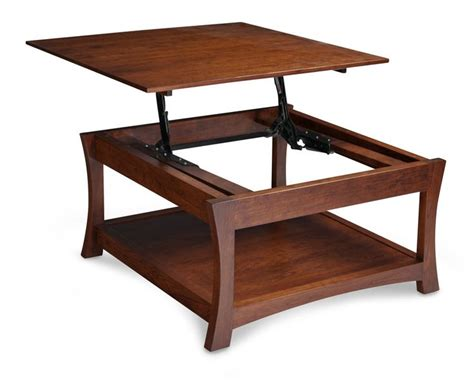 loft square coffee table with lift top simply amish