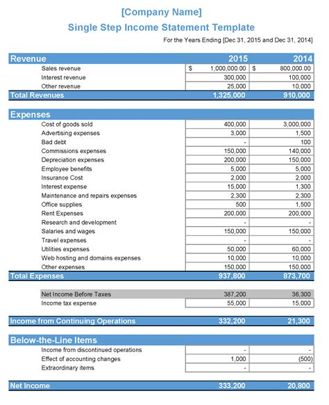 Quarterly Income Statement Template Excel Spreadsheet Template Quarterly Income Statement Quarterly Income Statement Template