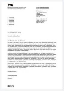 Formeller Brief Anfrage Vorlagen F 252 R B 252 Robereich Services Ressourcen Eth Z 252 Rich