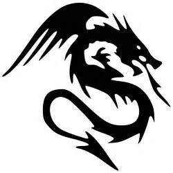 clipart black dragon tattoo