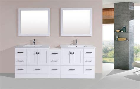 bathroom vanity with side cabinet 84 quot redondo white modern bathroom vanity with side