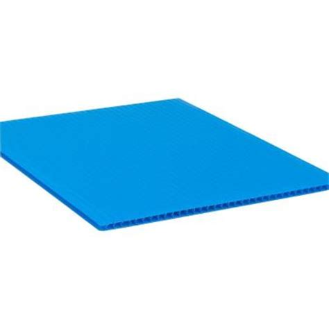 48 in x 96 in x 0 157 in royal blue corrugated plastic