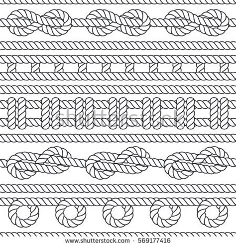 boat knots designs marine rope knot seamless vector pattern stock vector