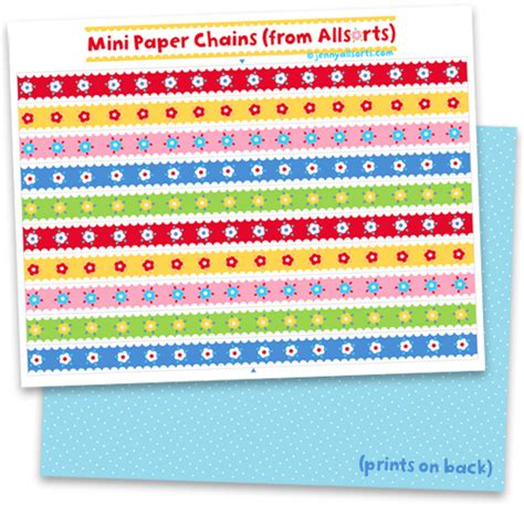 How To Make Chains Out Of Paper - pretty paper chains to print and play with allsorts