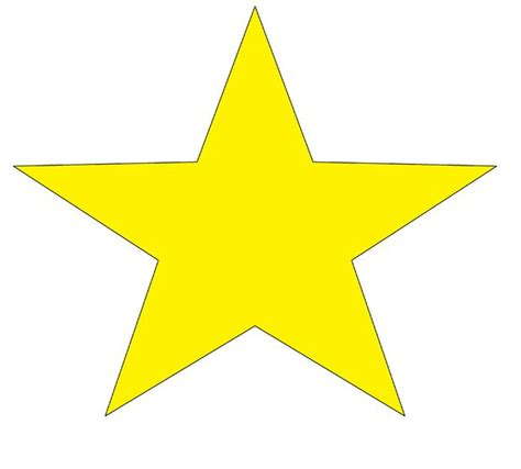 printable yellow stars to cut out star pattern cut out