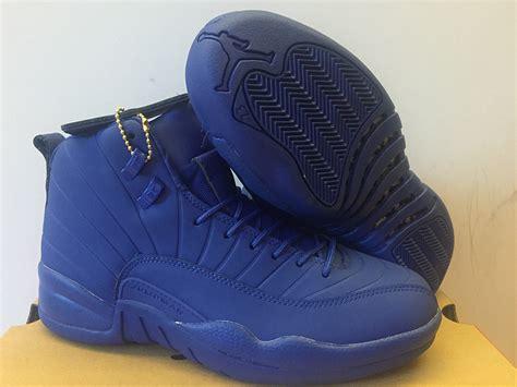 all blue basketball shoes nike air 12 ovo mens basketball shoes all blue