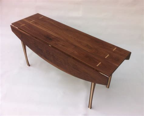 drop leaf console table solid walnut 66 quot x45