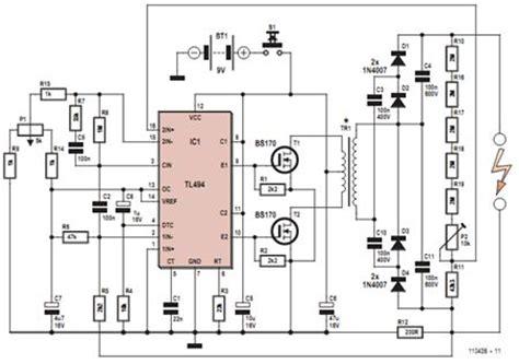high voltage generator circuit diagram eee
