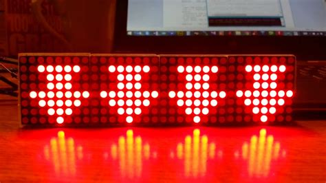arduino library test program   matrix led module