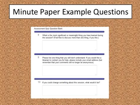 minute paper template how to improve library assessment in five minutes
