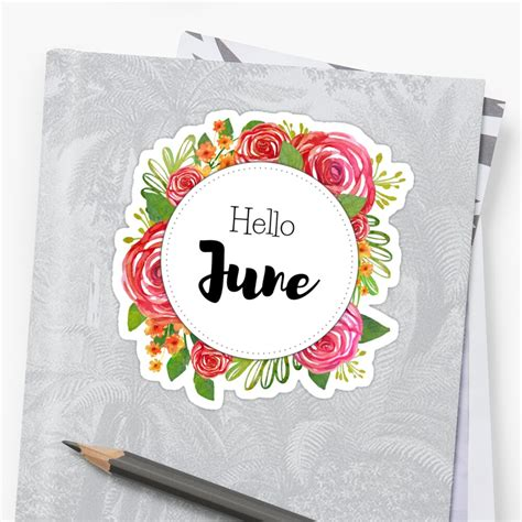 june monthly cover  planners bullet journals