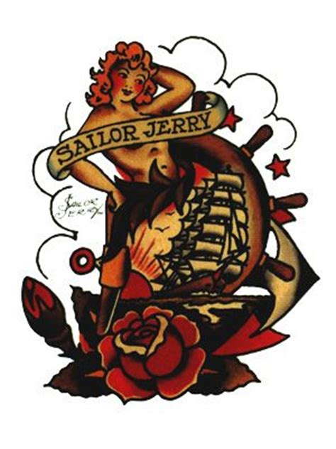 tattoo old school sailor jerry sailor jerry ship tattoos lady with ship tattoo sticker