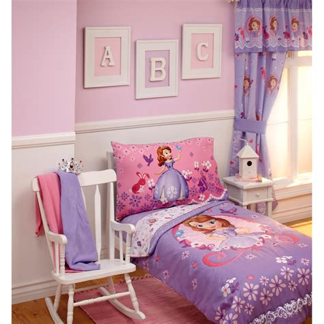 disney sofia first toddler bedding set on white glaze