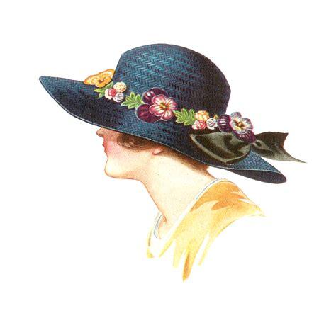 fashion illustration hats antique images free hat fashion clip 1915 s