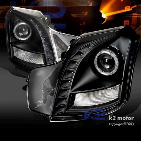 Raket Rs Air Chrome 800 03 07 cadillac cts black smd led projector headlights