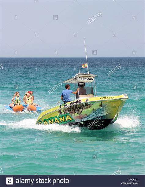 banana boat rides alcudia boat ride stock photos boat ride stock images alamy