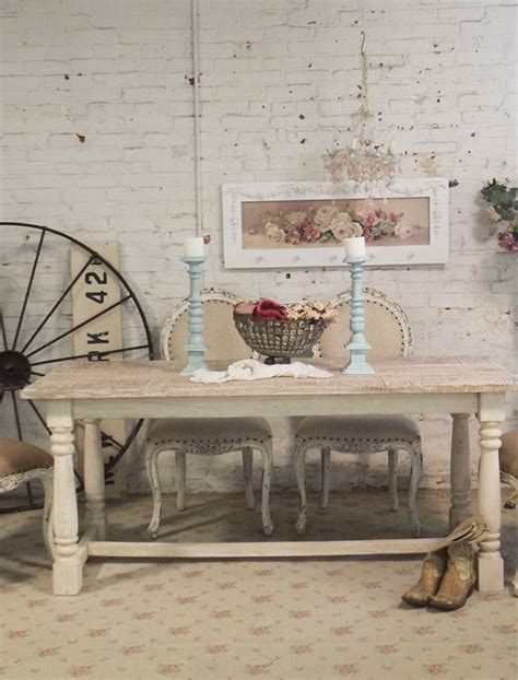 shabby chic farm table painted cottage chic shabby linen farm table farm
