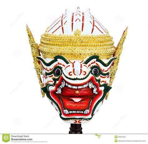 hanuman maske in thail 228 ndischer klassischer art khon