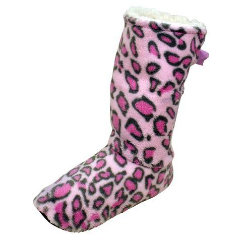 animal slipper socks sherpa ankle boot slipper socks animal print