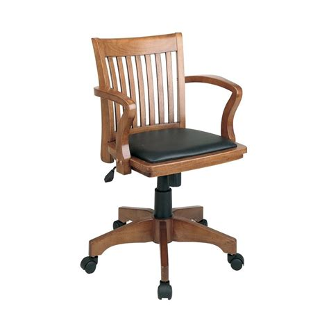 Office Chair Store Design Ideas Shop Office Osp Designs Black Fruitwood Mission Shaker Bankers Chair At Lowes