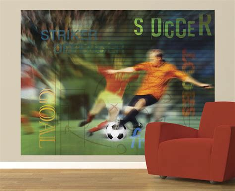 soccer wall murals soccer fans pre pasted mural