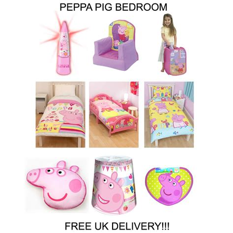 Peppa Pig Room Decor Peppa Pig Bedding Bedroom Decor Duvets Wall Stickers Lighting Curtains Ebay
