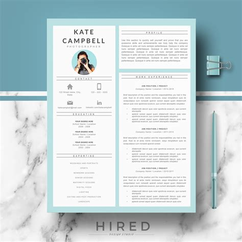 7 best resume templates images on pinterest creative curriculum
