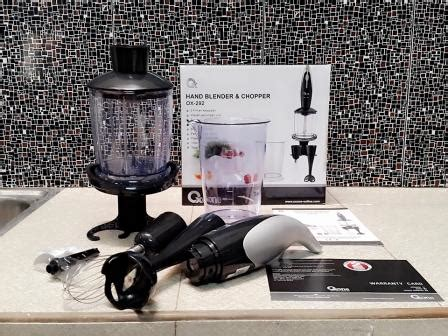 Alat Masak Belleza handblender and chopper oxone mixer juicer ox292 ready