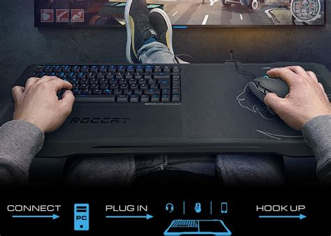 couch keyboard and mouse roccat sova couch pc gaming system launches from 150