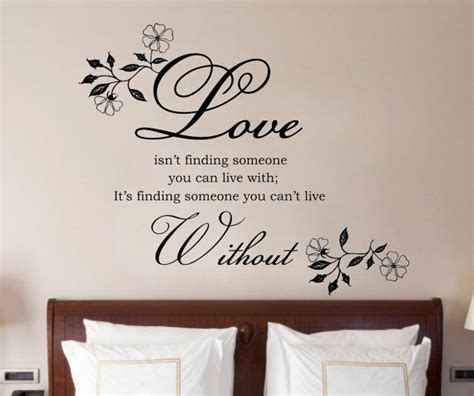 bedroom wall decor quotes master bedroom wall quotes quotesgram