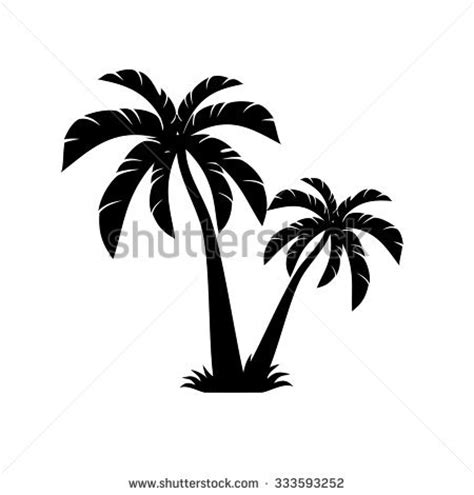 palm tree svg palm trees vector stock vector 276263552 shutterstock