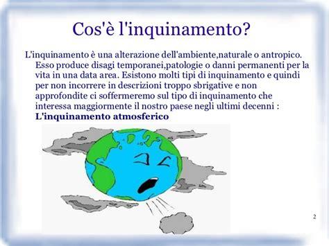 testo sull inquinamento l inquinamento atmosferico