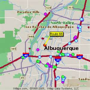 New Mexico Casinos Map by Route 66 Albuquerque New Mexico Nm Hotels Motels And Maps