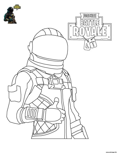 coloriage fortnite battle royale personnage   imprimer